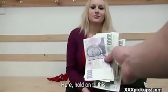 Public pickup babe seduces tourist for money and sex fuck 07