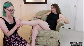 Miss Jane Judge tempts shoe sales clerk lesbian foot adore luxlives